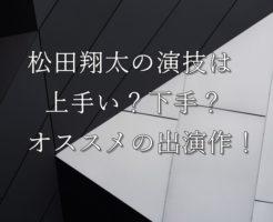 松田翔太演技力
