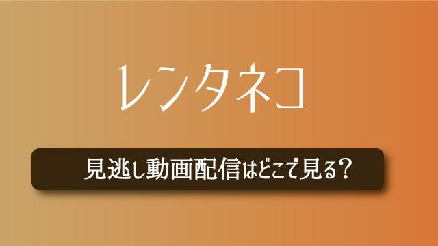 レンタネコ 動画配信 無料